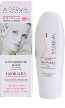 A-Derma Hydralba crema hidratante para pieles normales y mixtas SPF 20