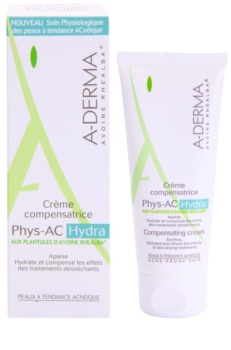 A-Derma Phys-AC Hydra feuchtigkeitsspendende Creme für irritierte und ausgetrocknete Haut nach einer Aknebehandlung