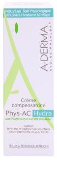 A-Derma Phys-AC Hydra hidratáló krém az akné általi kezelés során irritált és száraz bőrre