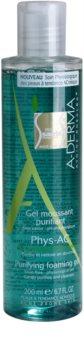 A-Derma Phys-AC пенлив почистващ гел за проблемна кожа, акне