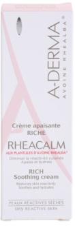 A-Derma Rheacalm nährende und beruhigende Creme für trockene Haut
