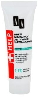 AA Cosmetics Help Acne Skin mattierende Creme mit feuchtigkeitsspendender Wirkung