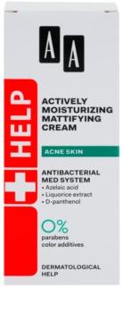 AA Cosmetics Help Acne Skin crema idratante opacizzante