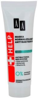 AA Cosmetics Help Acne Skin máscara normalizante antibacteriana