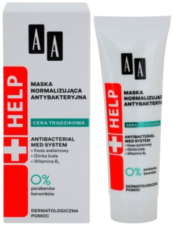AA Cosmetics Help Acne Skin Antibacterial Normalising Face Mask