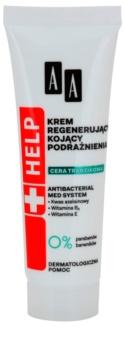 AA Cosmetics Help Acne Skin успокояващ нощен крем  с регенериращ ефект