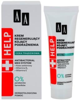 AA Cosmetics Help Acne Skin umirujuća noćna krema s regeneracijskim učinkom