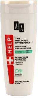 AA Cosmetics Help Acne Skin antibakteriális tonik hidratáló hatással