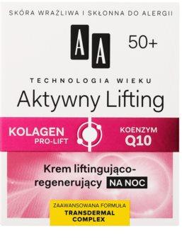 AA Cosmetics Age Technology Active Lifting Festigende regenerierende Nachtcreme 50+