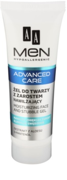 AA Cosmetics Men Advanced Care gel hydratant et apaisant visage et barbe