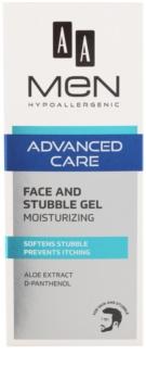 AA Cosmetics Men Advanced Care хидратиращ и успокояващ гел  за зоната на лицето и брадата