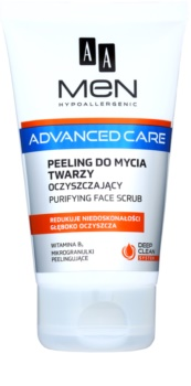 AA Cosmetics Men Advanced Care reinigendes Peeling-Gel für das Gesicht