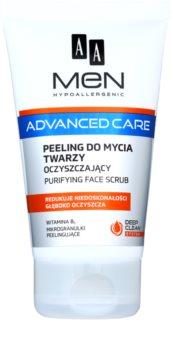 AA Cosmetics Men Advanced Care почистващ пилинг гел за лице