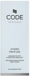 AA Cosmetics CODE Sensible Hydro Profuse éjszakai hidratáló maszk az érzékeny arcbőrre