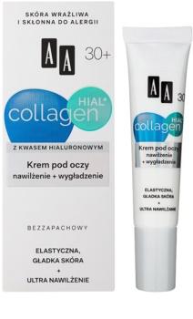 AA Cosmetics Collagen HIAL+ hydratačný a vyhladzujúci očný krém 30+