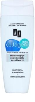 AA Cosmetics Collagen HIAL+ micelláris tisztító víz az arcra és a szemekre
