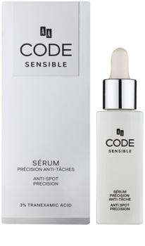 AA Cosmetics CODE Sensible szérum a pigment foltok ellen