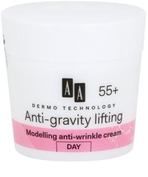 AA Cosmetics Dermo Technology Anti-Gravity Lifting crème stylisante anti-rides 55+