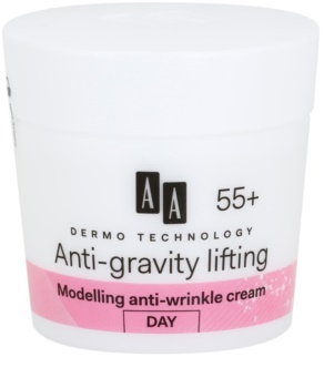 AA Cosmetics Dermo Technology Anti-Gravity Lifting Modelerende Crème met Anti-Rimpel Werking  55+