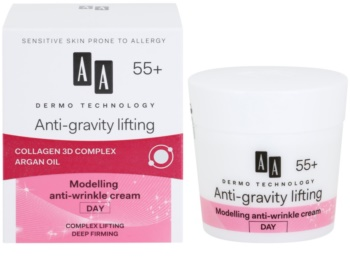 AA Cosmetics Dermo Technology Anti-Gravity Lifting modellező krém a ráncok ellen 55+