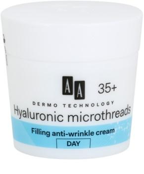 AA Cosmetics Dermo Technology Hyaluronic Microthreads  попълващ дневен крем против бръчки 35+