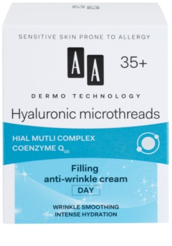 AA Cosmetics Dermo Technology Hyaluronic Microthreads crème de jour restructurante anti-rides 35+
