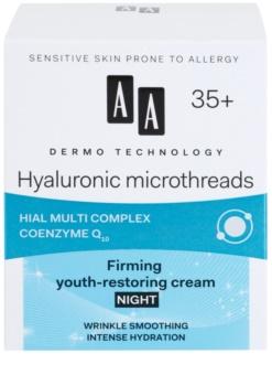 AA Cosmetics Dermo Technology Hyaluronic Microthreads Verjongende en Egaliserende Nachtcrème 35+