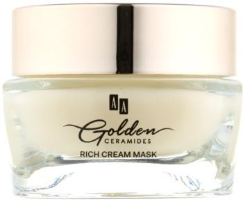 AA Cosmetics Golden Ceramides erneuernde Creme-Maske mit Goldpuder