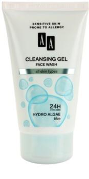 AA Cosmetics Hydro Algae Blue čisticí pleťový gel na obličej, krk a dekolt