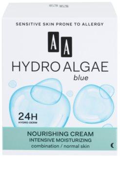 AA Cosmetics Hydro Algae Blue creme hidratante e nutritivo