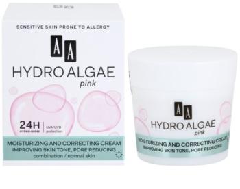 AA Cosmetics Hydro Algae Pink ujednačavajuća krema za hidrataciju lica i smanjenje bora
