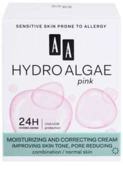 AA Cosmetics Hydro Algae Pink crème unifiante pour hydrater la peau et réduire l'apparence des pores