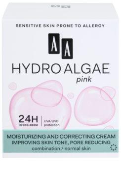 AA Cosmetics Hydro Algae Pink sjednocující krém pro hydrataci pleti a minimalizaci pórů
