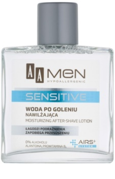 AA Cosmetics Men Sensitive aftershave water cu efect de hidratare