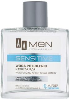 AA Cosmetics Men Sensitive voda poslije brijanja s hidratantnim učinkom