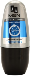 AA Cosmetics Men Sensitive antiperspirant roll-on bez parfumácie
