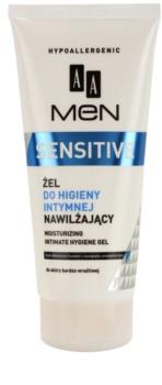AA Cosmetics Men Sensitive gel para higiene íntima com efeito hidratante
