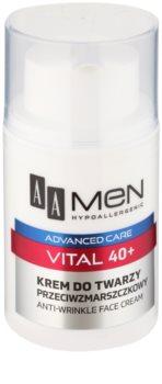 AA Cosmetics Men Vital 40+ Anti-Faltencreme gegen Hautalterung