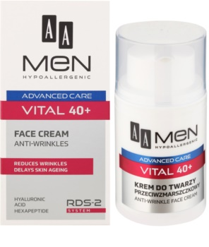AA Cosmetics Men Vital 40+ crema anti-rid impotriva imbatranirii pielii