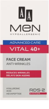 AA Cosmetics Men Vital 40+ Anti-Wrinkle Cream with Anti-Aging Effect