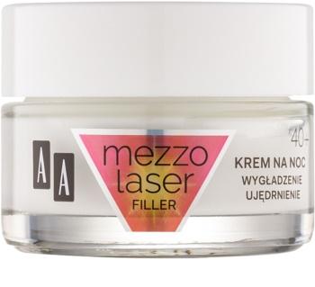 AA Cosmetics MezzoLaser стягащ нощен крем с регенериращ ефект   40+