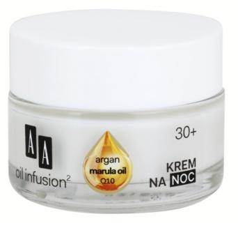 AA Cosmetics Oil Infusion2 Argan Marula 30+ noční výživný krém s protivráskovým účinkem