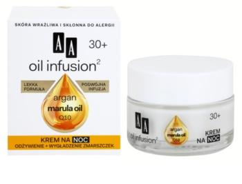 AA Cosmetics Oil Infusion2 Argan Marula 30+ éjszakai tápláló krém ránctalanító hatással