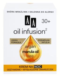 AA Cosmetics Oil Infusion2 Argan Marula 30+ hranjiva noćna krema s učinkom protiv bora