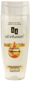AA Cosmetics Oil Infusion2 Avocado Babassu gel démaquillant micellaire visage et yeux
