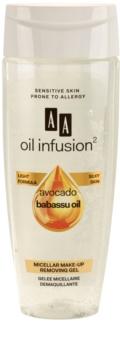 AA Cosmetics Oil Infusion2 Avocado Babassu gel struccante micellare per viso e occhi