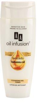 AA Cosmetics Oil Infusion2 Avocado Babassu tónico gelatinoso para limpeza facial perfeita