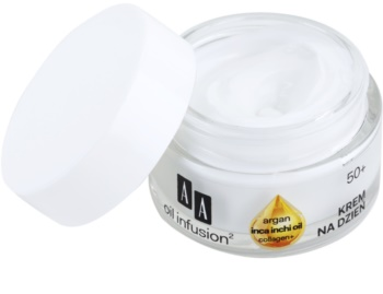 AA Cosmetics Oil Infusion2 Argan Inca Inchi 50+ дневен лифтинг крем  против бръчки