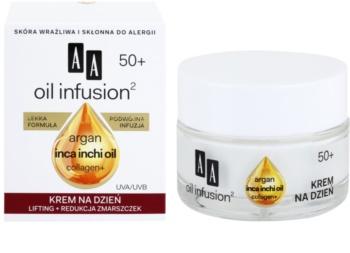 AA Cosmetics Oil Infusion2 Argan Inca Inchi 50+ Lifting Dagrème  tegen Rimpels