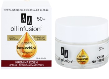 AA Cosmetics Oil Infusion2 Argan Inca Inchi 50+ дневен лифтинг крем  против бръчки